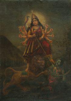 The sacred art as an offering to the Gods, and joy of men website page counter Durga Ji, Saraswati Goddess, Kali Goddess, Shiva Art, Shiva Shakti, Krishna Art, Kali Hindu, Hindu Art, Durga Painting
