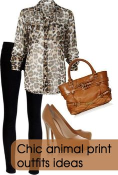 Chic animal print outfits