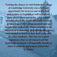 A lovely comment from a student who visited #pemcam with East Northamptonshire college