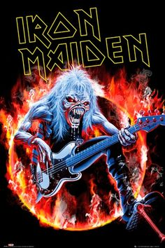 Iron Maiden. British metal band, they recite stories through music. England.