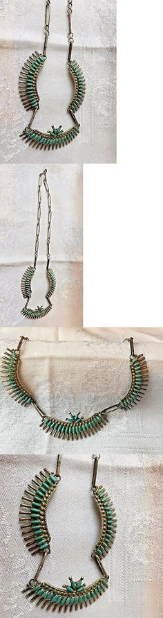 Other Ethnic Regional Jewelry 288: Vintage Turquoise Necklace, Handcrafted, Sterling Silver, Signed -> BUY IT NOW ONLY: $198 on eBay!