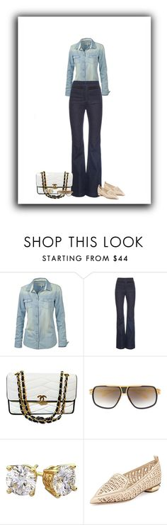 """""""dashing in denim"""" by paolanoel ❤ liked on Polyvore featuring Fat Face, Rachel Comey, Chanel, Dita and Nicholas Kirkwood"""