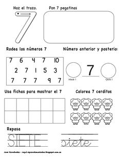 Números hasta el 10 - modificado Preschool Number Worksheets, Kindergarten Math Activities, Numbers Preschool, Math Literacy, Preschool Education, Learning Numbers, Math Numbers, Fun Math, Math Books