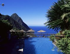 size: Photographic Print: The Pool at the Ladera Resort Overlooking the Pitons, St. Lucia, Windward Islands by Yadid Levy : Artists Wedding Venues In Virginia, Inexpensive Wedding Venues, Wedding Locations, Ladera Resort, Top Destination Weddings, Wedding Spot, Wedding Reception, Wedding Ideas, Wedding Programs