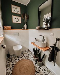 Toilet And Bathroom Design, Small Toilet Room, Bathroom Interior Design, Guest Toilet, Bathroom Designs, Cozy Bathroom, Bathroom Colors, White Bathroom, Master Bathroom
