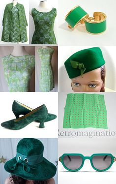 Green, egg, and ham - cute vintage fashion clothing, accessories and jewelry treasury