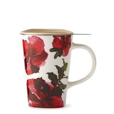 Dottie Red Infuser Mug | Teavana #TeasTheSeason ---------- [20% off your order 11/9/15 through 11/12/15 Code: SECRETSALE Excludes Breville products, sale items, and subscriptions]