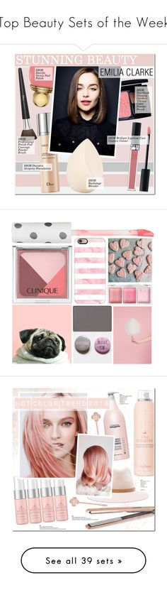 """""""Top Beauty Sets of the Week"""" by polyvore ❤ liked on Polyvore featuring beauty, Christian Dior, Beauty, Dior, makeup, EmiliaClarke, Clinique, Topshop, Casetify and Mary Kay"""