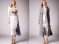 Burberry Resort 2 - I love these two looks. Minimal color scheme but makes a fashion impact.