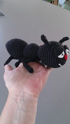 Crochet ant, made my own pattern for This :-)