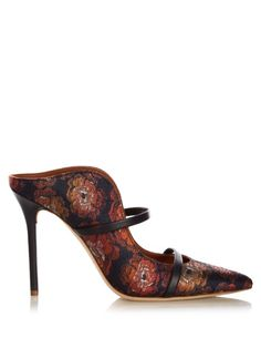 Malone Souliers Maureen floral-jacquard mules