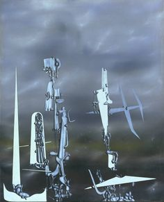 Yves Tanguy (French, 1900-1955), The Invisibles [Les transparents], 1951, oil on canvas, 987 x 810 mm.