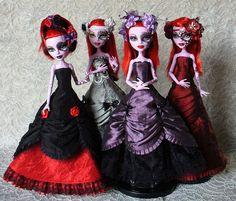 Красивые платья для кукол монстер хай картинки