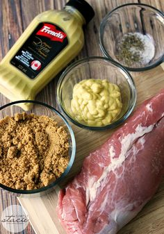 Brown Sugar Dijon Pork Tenderloin - A simple and memorable recipe for Brown Sugar Dijon Pork Tenderloin. Just two simple ingredients to create a meal your family will rave about! Just two simple ingredients to create a meal your family will rave about! Pork Tenderloin Oven, Mustard Pork Tenderloin, Recipes For Pork Tenderloin, Pork Tenderloins, Pork Chops, Mustard Pork Loin Recipe, Smoked Pork Loin Rub, Roasted Pork Loin Recipes, Pork Loin On The Grill