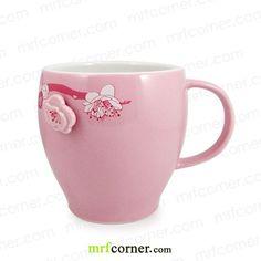 Starbucks Sakura Cherry Blossom Mug Sakura Cherry Blossom, Cherry Blossoms, Japan Sakura, Pink Cups, Starbucks Tumbler, Flower Shape, Mug Cup, Coffee Cups, Tea Pots