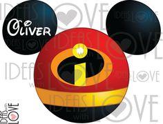 The Incredibles Inspired Mickey Ears Disney Trip Birthday Printable Iron on Transfer T-shirt Digital Download DIY