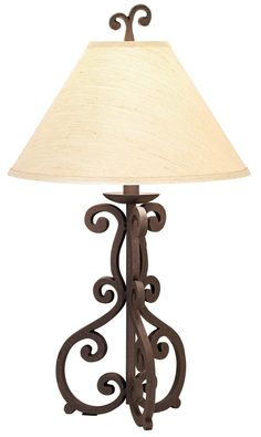 High Iron Scroll Table Lamp -