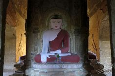 Buddha Statues in the Temples of Bagan