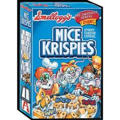 Wacky Packages Giant On-Demand Wall Graphics: Mice Krispies Fuzzy Chair, Halloween Kitchen, Funny Ads, Garbage Pail Kids, Cartoon Jokes, Pin And Patches, Classic Tv, Trading Cards, Childhood