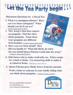 Discussion guide for A Royal Tea (Mermaid Tales #9 from Simon and Schuster) by author Debbie Dadey www.debbiedadey.com