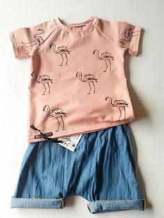 Shirt Flamingo | Korte mouw | Daphne Vos
