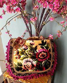 schöne italienische Schnitt samt Zigeuner Tasche von Justbepurses
