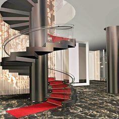 Atrium stair design by #McCARTAN #luxury #design #interior