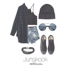 kpop fashion A fashion look from March 2016 featuring shirt crop top, short shorts and star shoes. Browse and shop related looks. Kpop Fashion Outfits, Edgy Outfits, Korean Outfits, Mode Outfits, Cute Casual Outfits, Outfits For Teens, Teenage Outfits, Jeans Fashion, Fashion Tips