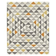 Framed Triangles Special Order Wool Rug (30-Day Delivery) | west elm