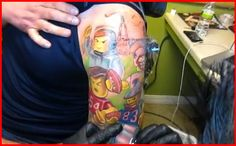 This is what you get when you combine the art of tattooing, Lego figurines, and New England Patriots superstars.