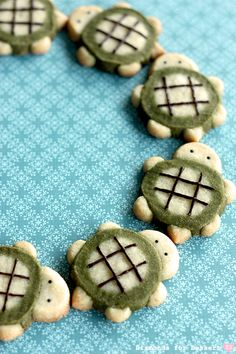 the CUTEST turtle cookies ever!!