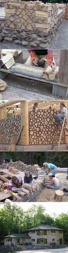 Дом из дров.