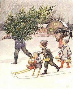 Elsa Beskow (1874 – 1953, Swedish) December http://iamachild.wordpress.com/2012/12/16/elsa-beskow-1874-1953-swedish/december-2/