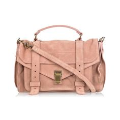 Proenza Schouler PS1 in rose suede - PurseBlog found on Polyvore