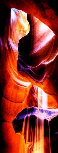Sand Fall in Antelope Canyon, AZ