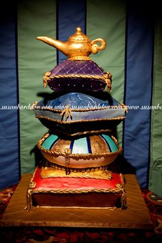 Arabian nights themed Wedding Cake Arab Wedding, Fantasy Wedding, Wedding Cake, Arabian Nights Prom, Arabian Nights Theme, Arabian Theme, Arabian Party, Moroccan Party, Moroccan Theme