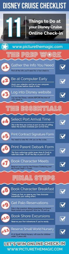 Disney Cruise online check-in is an important first step in making your cruise magical. Get this right & you'll be off to a great start for your cruise!