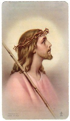 Jesus Crown of Thorns Vintage Holy Card Printed in Italy | eBay