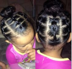 Cute hairstyle Black Baby Hairstyles, Mixed Kids Hairstyles, Cute Toddler Hairstyles, Girls Natural Hairstyles, Natural Hairstyles For Kids, Kids Braided Hairstyles, Children Hairstyles, Curly Hair Styles, Natural Hair Styles