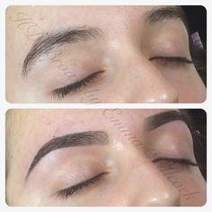 HD Brows before & after by MASTER Stylist Emma Willcock.