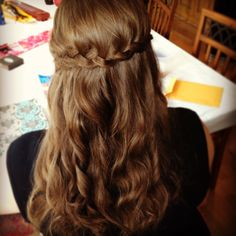 Half up, braided bridesmaid hair by Julie Meacham