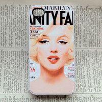Marilyn Monroe iPhone 4 Case 4s Case Cover Hard Plastic Vanity Fair - white case