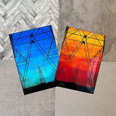 Just a couple of the prints that'll be available on my ETSY very soon! Absolutely in love with those colours 🌇🏙 - Sunset pylon prints -… Colours, Couple, Sunset, Illustration, Pretty, Instagram, Sunsets, Illustrations, Couples