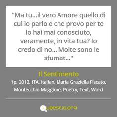 """""""Il Sentimento"""" (2012) #MariaGraziellaFiscato #MontecchioMaggiore #ITA #Text #Poetry #Italiano #Word https://quaestio.org/il-sentimento"""