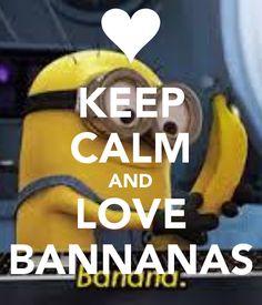 Charming KEEP CALM AND LOVE BANNANAS