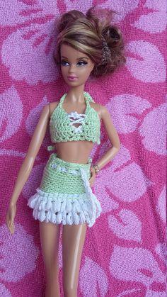 Barbie Size Bikini and Matching Skirt