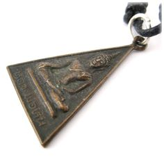Vintage Buddhist Charm Copper Amulet Buddhist Penandt Necklace Thai Amulet carved into the shape of the Good Monk Luang Phor Hin by ElephantAmulets on Etsy