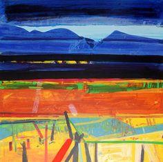 barbara rae - Google Search Pastel Landscape, Landscape Artwork, Landscape Drawings, Abstract Landscape, Landscapes, Barbara Rae, Art Folder, Abstract Nature, Print Artist