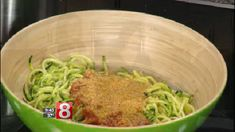 April Godfrey makes a delicious Meatless Monday dish of saucy zoodles with vegan Parmesan.