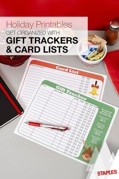 From Frosty and Rudolph, to gloves and mittens, this free printable holiday gift tracker and card list will make sure you're in bright spirits when you're getting ready for the season's festivities.